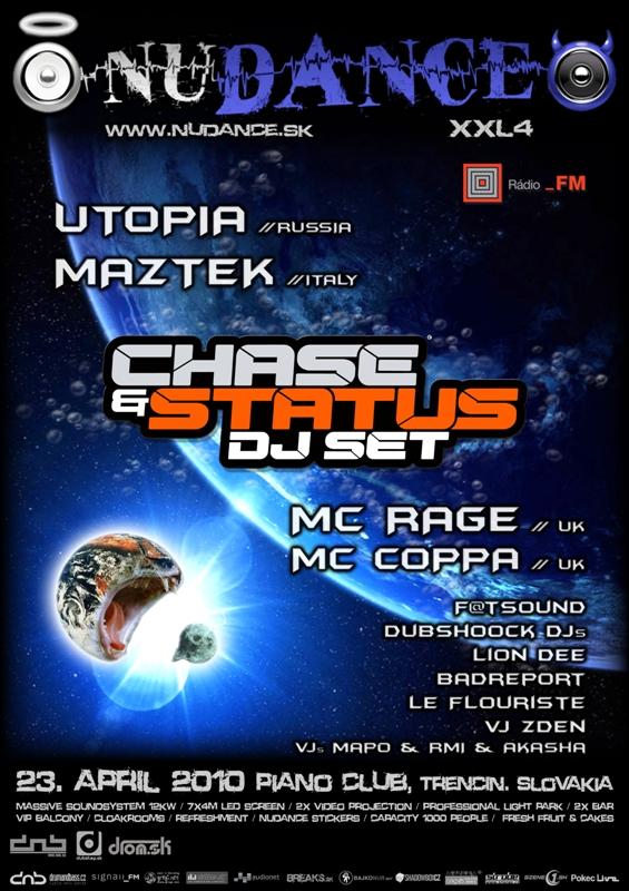 Nudance xxl4 Chase&Status - 23.4.2010 Piano club, Trencin, Slovakia